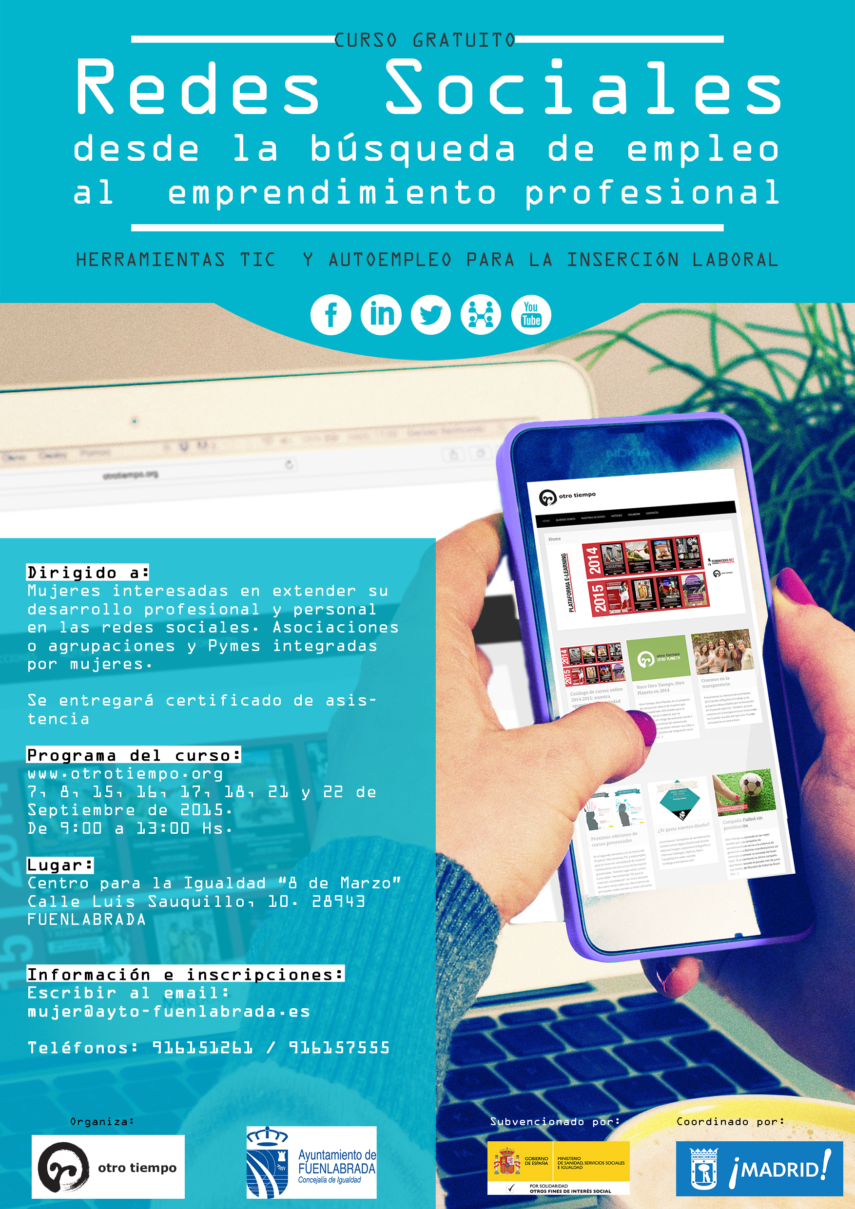 Curso taller gratuito redes sociales desde la b squeda for Oficina de empleo fuenlabrada